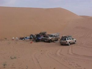 Our campsite among the Dahna dunes (photo M. Alshanti)