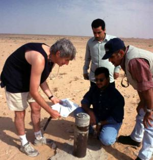To test our accuracy, we took the coordinates of some landmarks, such as this Saudi Aramco well