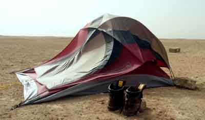 Fate of a tent in northern Saudi Arabia