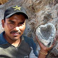 Victor Cocula and basalt molcajete